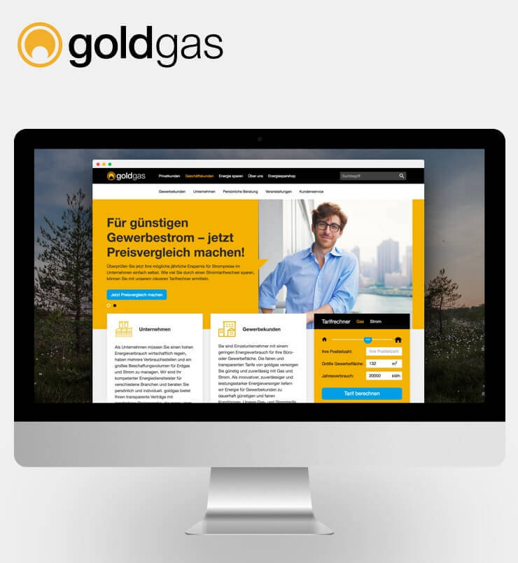 goldgas Relaunch