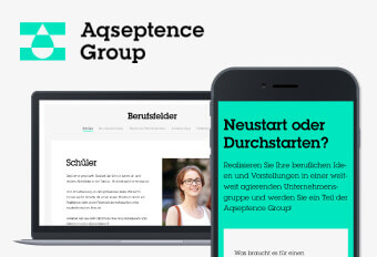 Recruiting-Landingpage Aqseptence